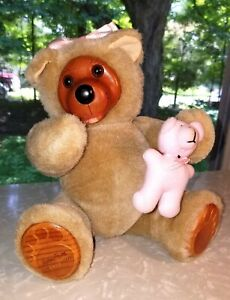 Robert Raikes Courtney, Jointed Bear, Wooden Features, Signed and Numbered 1990