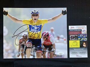 LANCE ARMSTRONG Autographed TOUR DE FRANCE 8X10 Photo w/JSA AUTHENTICATION