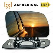 Right Driver side Wide Angle Wing mirror glass for Peugeot 407 04-09 Heated