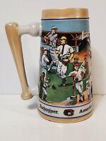 Baseball Beer Stein Mug 1990 Budweiser Sports Series Americas Favorite Pastime