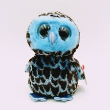 "6"" TY Beanie Boos Blue owl Girl YAGO Plush Toy New! 2018 Girl Gift With tag"