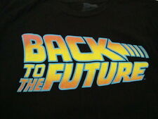 Back To The Future 80's Time Machine Travel Movie Delorean Black T Shirt L / M