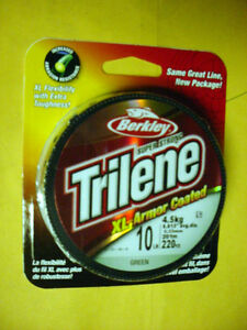 BERKLEY XL GREEN  ARMOR COATED TRILENE-10 LB (.33 MM) W 220 YDS