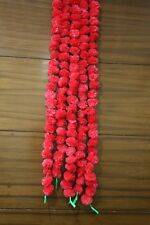 Set of 5 Pcs Marigold Garlands 5 Feet Long Home Decoration Flower Pink