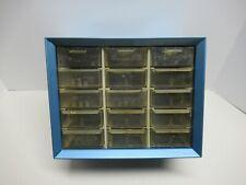 Vintage 15 Drawer Metal Akro Mills Small Parts Storage Organizer Cabinet Bin