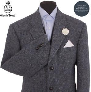 Harris Tweed Jacket Blazer 46R Herringbone Country Weave Hacking Hunting Sports