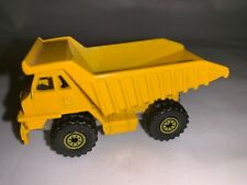 Vintage 1979 Hot Wheels Caterpillar Dump Truck Diecast Yellow Made Malaysia 3""