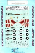 SuperScale Decals 1:72 P-51 B/D Mustang Aces 344th FS 4th FG 8th AF #72-766