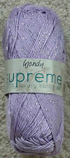 Wendy Supreme Luxury Cotton DK With Sparkle.1919 Pale Lemon 3 X 100g Balls