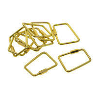 New Solid Brass Fishhook Key Hook Chain Ring Crafts Hardware Accessory 45mm JP
