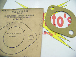 Replacement Gaskets Packard (Studebaker-Nash-Hudson) 56-58 Water Outlet Gasket