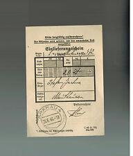 1940 Krakow Poland Mauthausen Concentration Camp parcel Receipt Stepehn Jachung