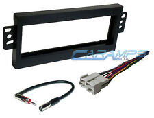 CAR STEREO RADIO INSTALLATION DASH MOUNT KIT W WIRING HARNESS & ANTENNA ADAPTER