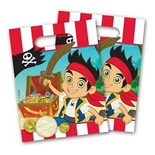 6 Disney Jake and the Neverland Pirates Party Plastic Loot Treat Bags