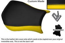Amarillo Y Negro Personalizado se adapta a Ducati Monoposto 748 916 996 998 Cuero Funda De Asiento
