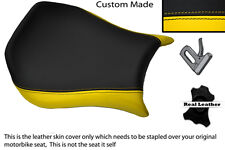 YELLOW & BLACK CUSTOM FITS DUCATI MONOPOSTO 748 916 996 998 LEATHER SEAT COVER