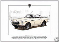 VOLVO P1800 - Fine Art Print - A4 size- Roger Moore - 'The Saint' TV series Car