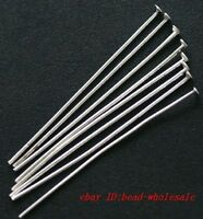 500pcs 70mm Silver Plated Head Pins Needles Finding For Crafts DIY