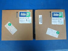 Lot of 2 Belden 100ft 26 Connector, 28Awg Flat Cable (Gry) 9L28026, New