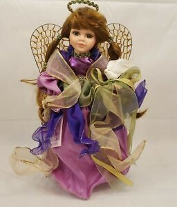 """Collectible Memories Handcrafted Porcelain Doll Kimberly by Norma 16"""" COA"""