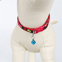 Cheap Dog Cat Puppy Bell Collars Adjustable Nylon Dog Collar Colorful Everyday
