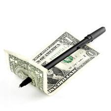 Magic Trick Gimmick Penetration Pen through Dollar Bill Money Black