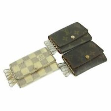 Auth LOUIS VUITTON Monogram Damier Azur Multicles 6 Key Case 3P Set 11994b