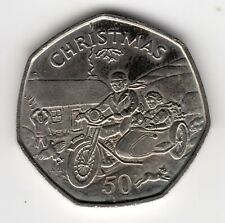 More details for 1988 50p tt coin iom christmas motorcycle sidecar aa isle man fifty pence iom218
