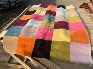 Huge soft rug brightly coloured squares design lot LSE200221C
