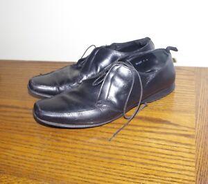 Prada Leather  Black Lace Up Men's Dress Shoes Size Italy :6,5 USA 9