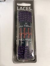 Shoestring  Quality 150cm Black / Purple Hiking Walking Boot Laces Only £2.99