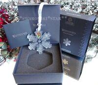 2020 NIB WATERFORD TOPAZ ICE SNOWCRYSTAL CHRISTMAS ORNAMENT 1056302