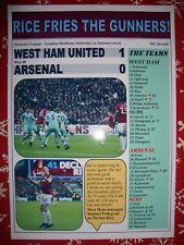 West Ham United 1 Arsenal 0 - 2019 - souvenir print