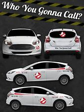 Ghostbusters ECTO 1 custom vinyl Decal Sticker Kit - vinyl INTERNATIONAL SHIP