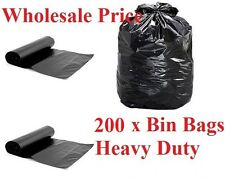 200 x Heavy Duty Bin Bags Bin Liner Refuse Sacks WholeSale Price Strong Bin Bags