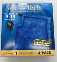 Aqua-Tech Power Aquarium Filter Fits 5 - 15 Power Filters 3 Pack