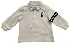 Baby Boys Ralph Lauren Rugby Shirt Size 6 Months Red Long Sleeve