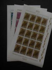 LIECHTENSTEIN : 1960. Scott #353-55 Full Sheets of 20. Very Fine, MNH. Cat $800.