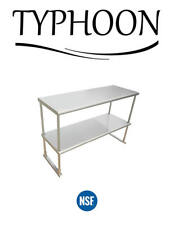 Stainless Steel Commercial Kitchen Over Shelf 2 Layer Round Corner 18 X 30