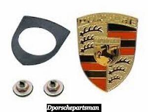 Porsche 911 / 912 / 914 / 924 / 928 / 930 / 944 / 968 Hood Emblem Kit  NEW #NS