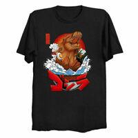 Ramen Great Wave Kanagawa Japanese Food Funny Parody T-Shirt Cotton Trend 2021