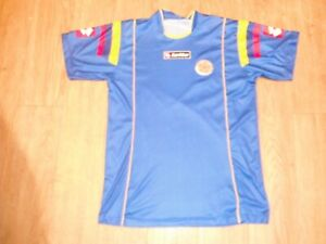 Vintage Colombia National Team Soccer Blue Jersey men's MEDIUM World Cup FIFA!!