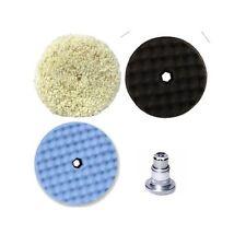 """3M 6"""" Perfect-It Pad Pak: Wool Compound, Polish, Ultrafine Polish Pads w/Adapter"""