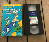 1994 VHS Dr. Seuss GREEN EGGS AND HAM AND OTHER STORIES Sing Along Classics