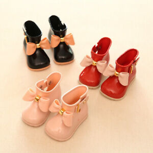 Girls Kids Children Lovely Bowknot Wellingtong Boots Wellies  Rain Boots Shoes