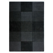 Flair Rugs sqaures SCURO GREY 100% Tappeto di lana 120CM (4ft) x 170cm (168cm)