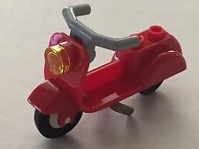 *NEW* Lego Minifig Friends RED SCOOTER Gray Handlebars