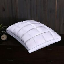 Luxury All Seasons Fill Standard Size Pleated Goose Down Pillow 550TC Firm Neck