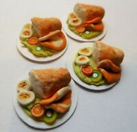 DOLLS HOUSE MINIATURE FOOD 1:12 * CRUSTY BREAD SALAD FOR FOUR * COMBINED P+P