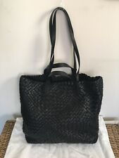Black Leather Falor Tote New With Tags